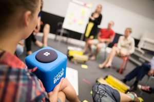 Catchbox bei einem Workshop