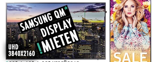 Display | Bildschirm | Mieten | Samsung QM